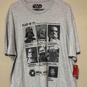 Star Wars Gray Short Sleeve Character T-Shirt